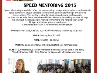 I'M MENTORING AT AWM-SOCAL'S SPEED MENTORING EVENT - AND YOU SHOULD COME TOO!