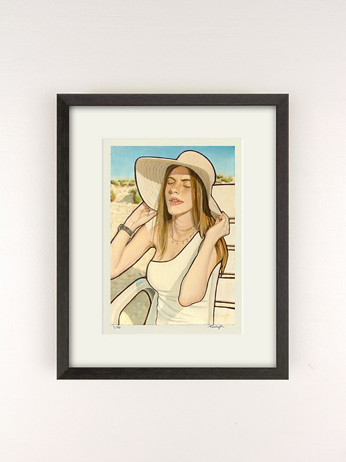 GIRL IN SUN - GICLEE PRINT