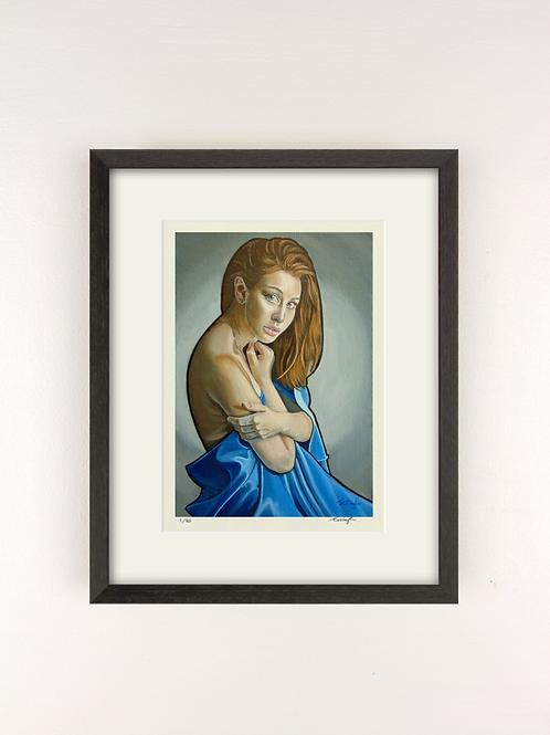 GIRL IN BLUE SILK - GICLEE PRINT