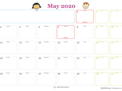 May 2020 Activity Planner