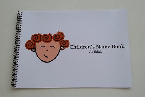 A4 English Name Book