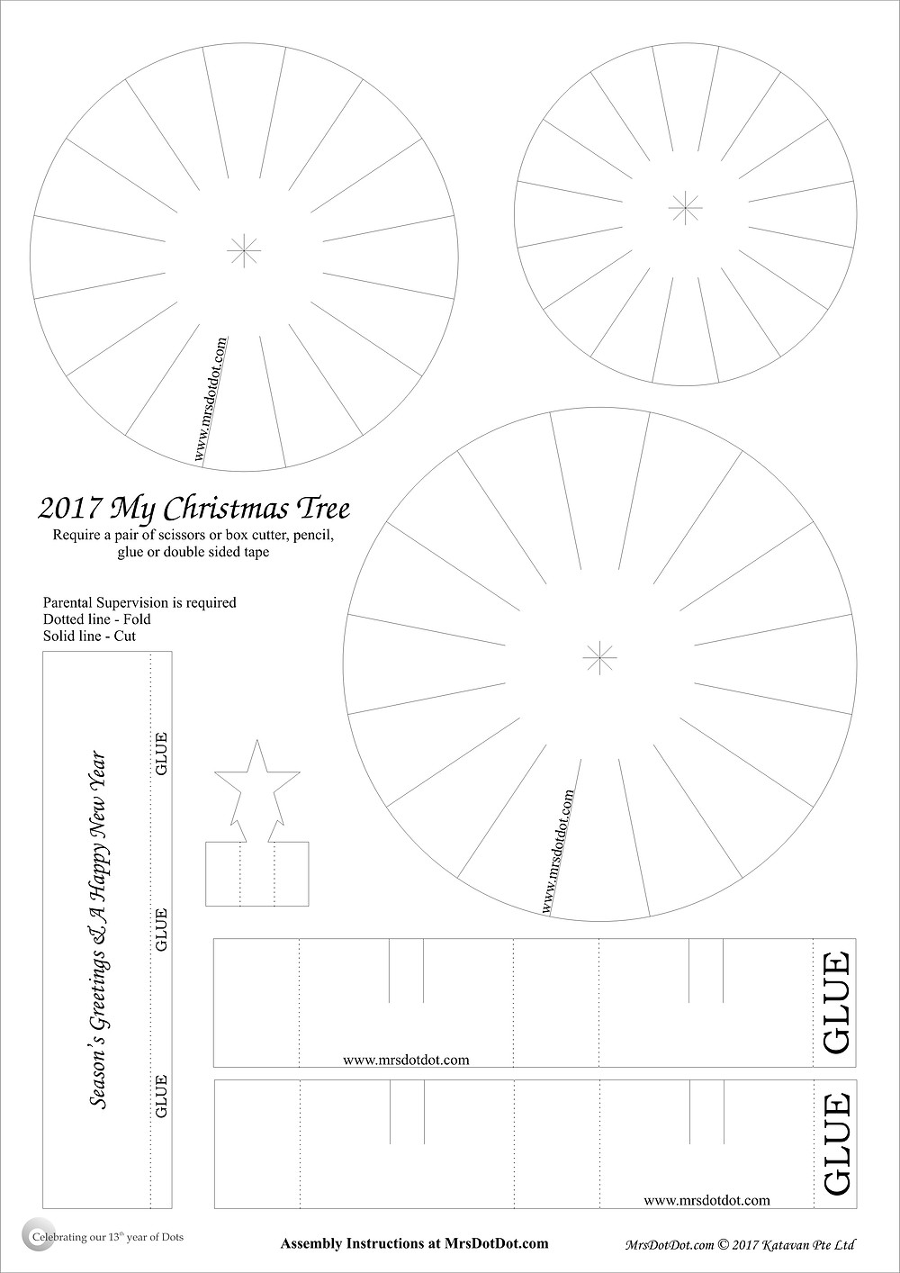 2017 Xmas Tree Activity Sheet