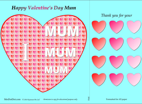 Valentine's Day Card for Mum