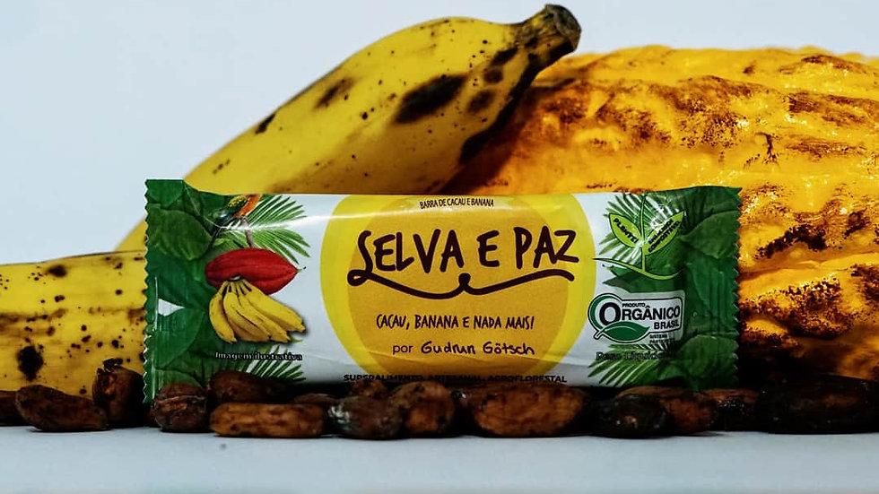 Barras De Cacau E Banana Desidratada, 24 Unidades