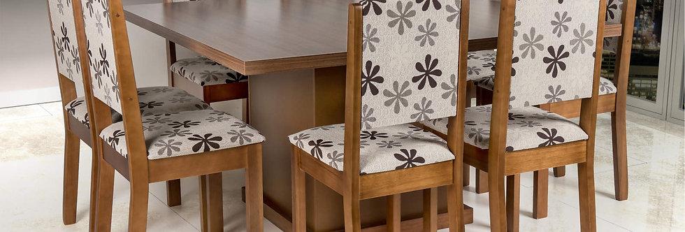 Mesa e Cadeiras Carvalho Nice Cella