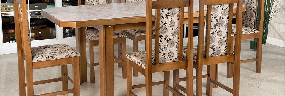 Mesa e Cadeiras Carvalho Cella