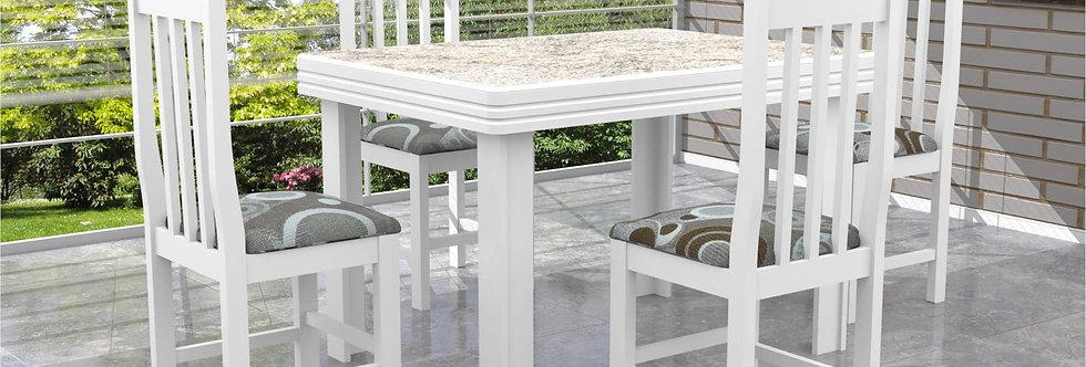 Mesa e Cadeiras Alicante Branca Cella