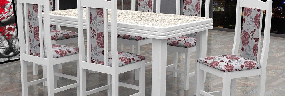 Mesa Alicante e Cadeiras Branca Cella