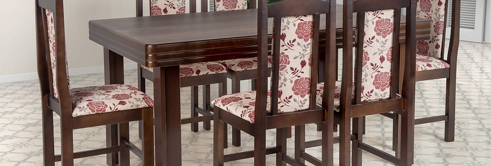 Mesa e Cadeiras Imbuia Castaine Cella