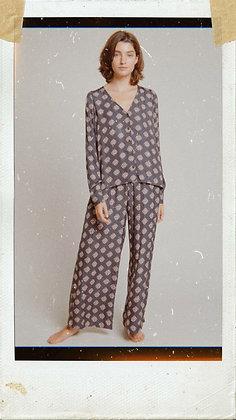 Satin Square Print Pants