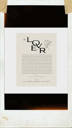 The Lover Art Print