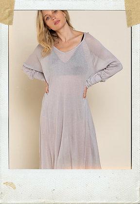 Cool Grey Knit Dress