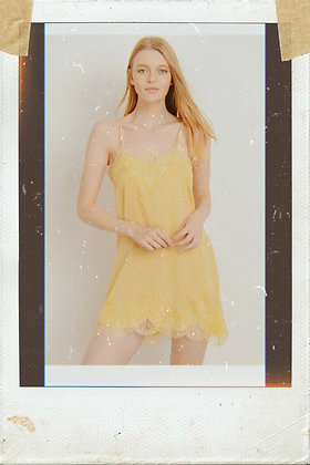 Yellow Lace Slip