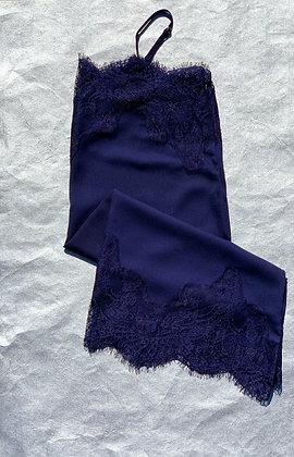 Navy Lace Slip
