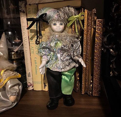 Green & Black Jester Wire Body Doll