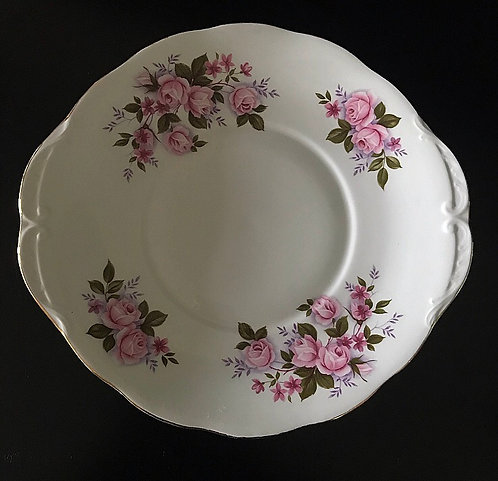 Queen Anne Pink Roses Plate