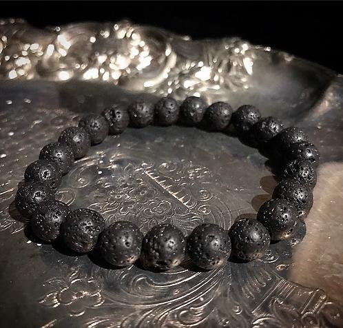 Black Lava Protection Bracelet