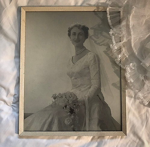 Vintage Wedding Portrait Photograph