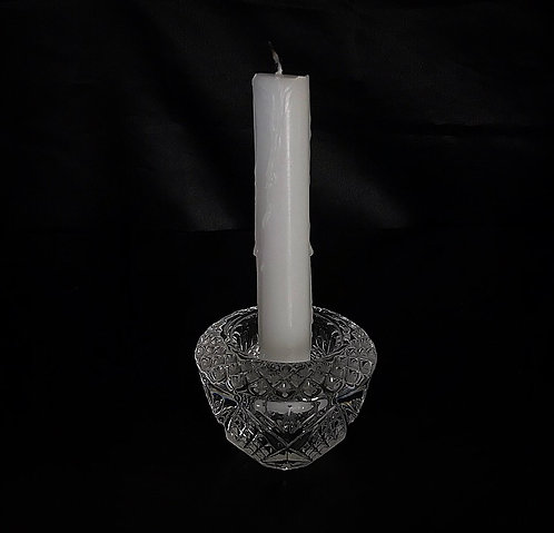 Round Crystal Lead Candle Holder