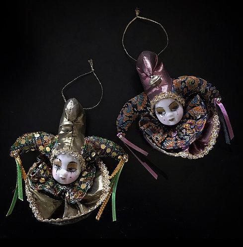 Porcelain Clown Ornament / Decoration / Magnet