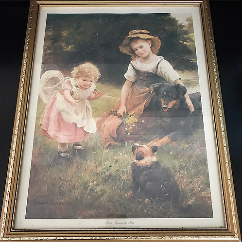 Gold Framed Antique Print by George Hilliard Swinstead