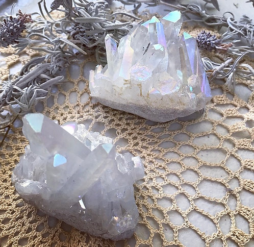 X1 Angel Aura Quartz Cluster