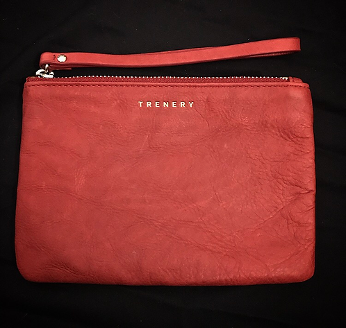 Trenery Red Leather Purse ~ New