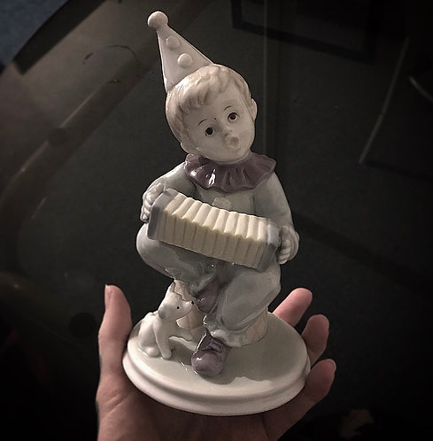 Porcelain Clown Statue