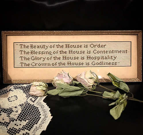 Antique Cross Stitch House Blessing
