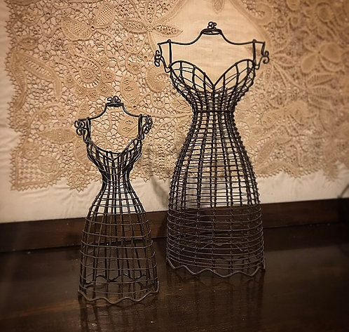 Brown Wire Bodice / Jewellery Display