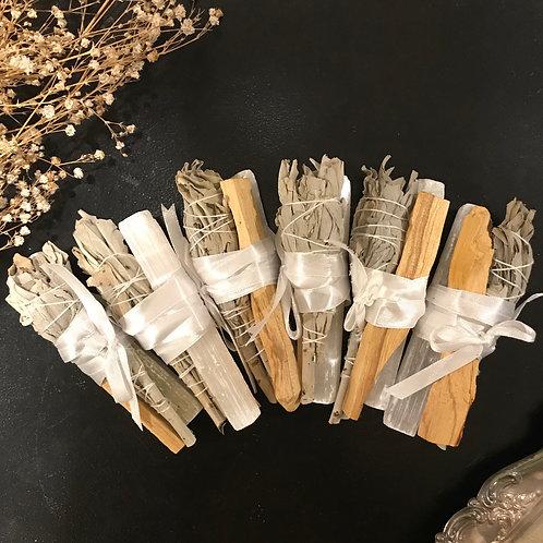 Selenite + Palo Santo + White Sage