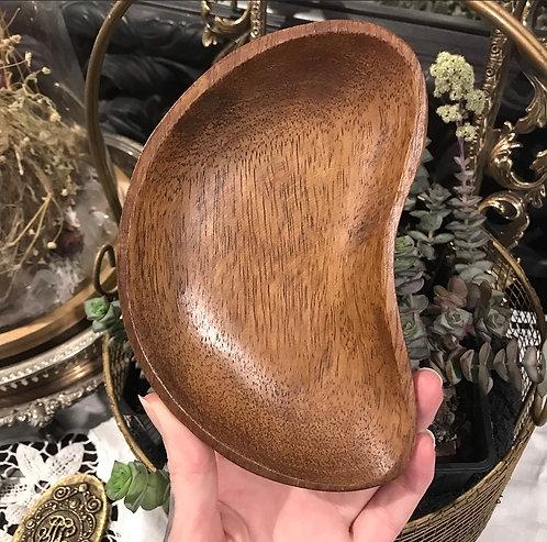 Wooden Moon Crescent Dish