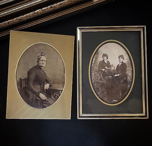 Victorian Framed Cabniet Cards