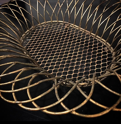 Rustic Gold Wire Basket