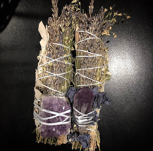 French Lavender, White Sage & Amethyst Point
