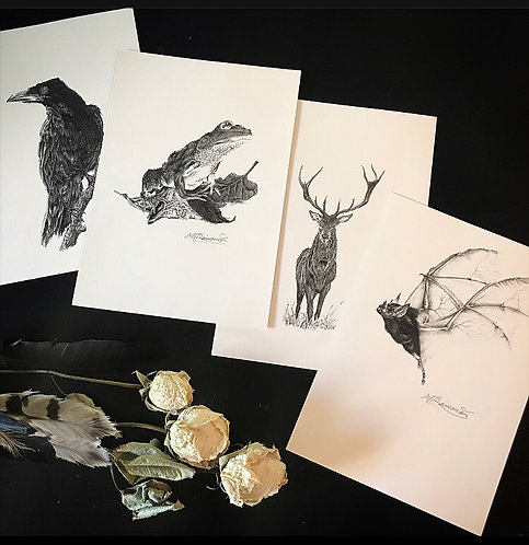 Biro A4 Prints by Mikaere Raimona