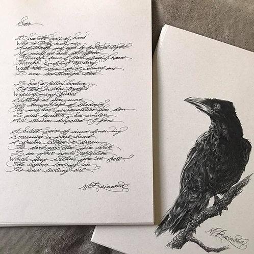 'Seer' Print & Poetry by Mikaere Raimona