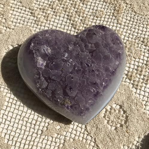 Large Spirit Amethyst Heart