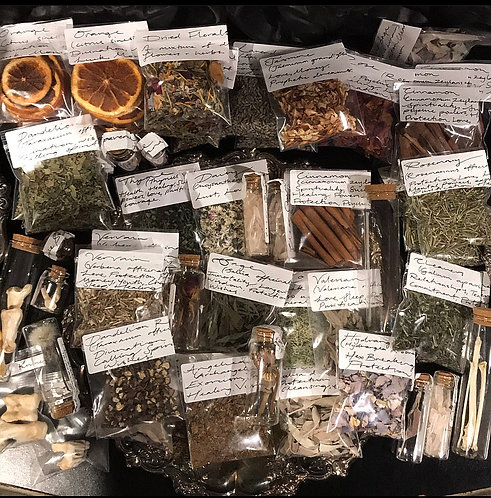 Dried Botanicals for Ritual & Magical use.