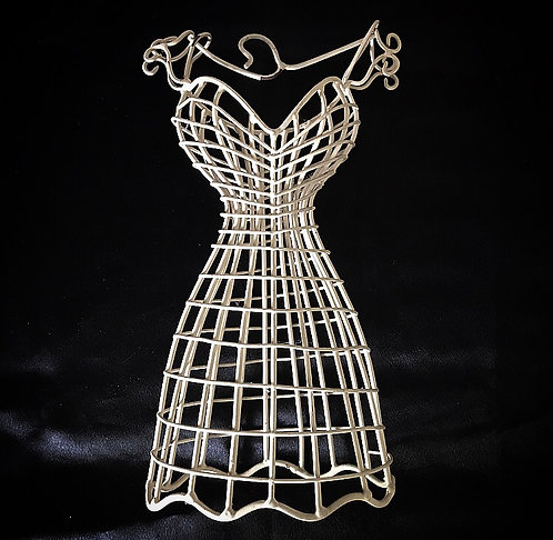 White Wire Bodice / Jewellery Display