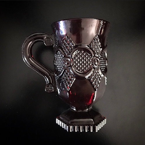 Red Avon Glass Coffee Cup