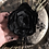 Thumbnail: Antique Black Silk Flower