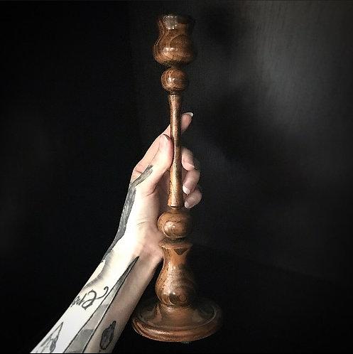 30cm Wooden Candlestick