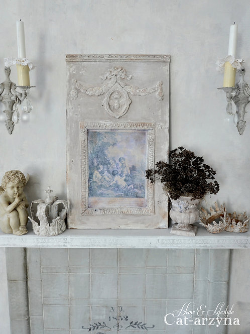 French Style Wall Panel with Cherubs