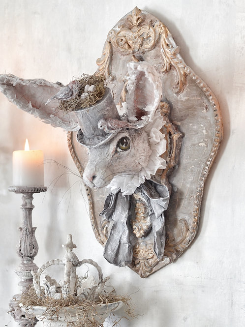 Wonderland Hare Wall Trophy