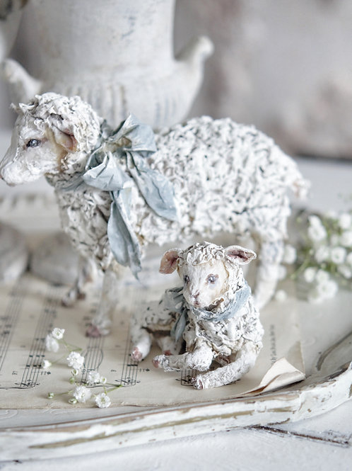 Turquoise Sheep Pair