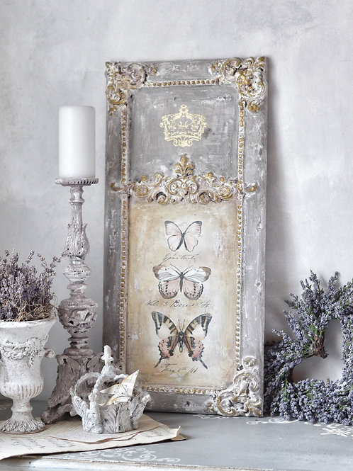 Antique Style Decoration Wall Panel with Butterflies