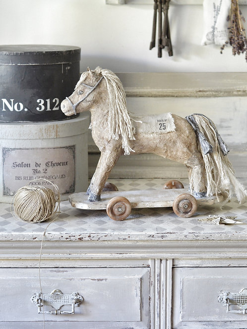 Shabby Pony on Wheels