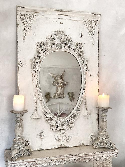 Chippy-White Wall Mirror