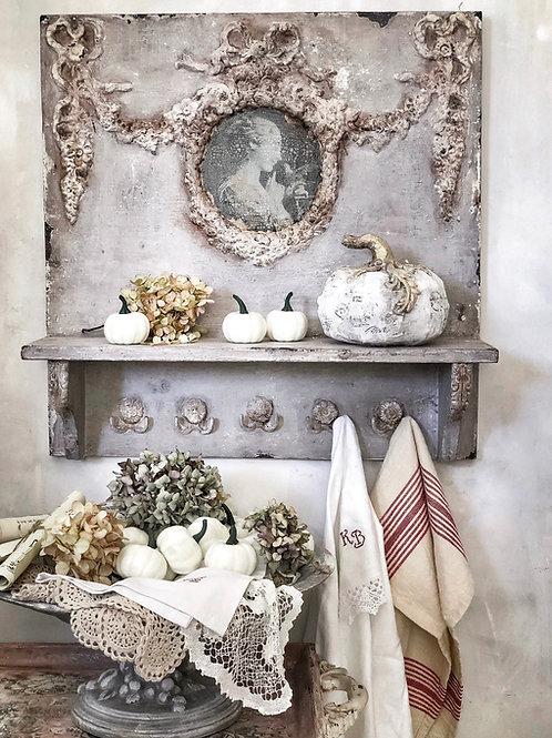18th Century Style Shelf with Hooks